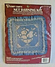 Vogart Crafts Net Darning Kit - 'Fruit Bowl' Pillow - Style #2526C - Nip