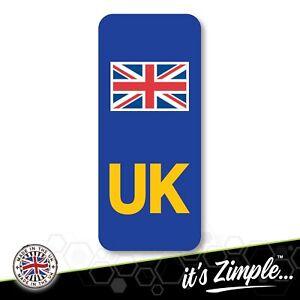 UK NUMBER PLATE STICKER Motorbike Motorcycle Union Jack Flag