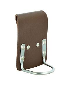 Leather Hammer Pouch Tool Belt Hammer Holder   Brown Steel Saddle Leather Holder