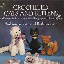 Crocheted Cats And Kittens 23 Jacksier Dover Needlework Crochet Pattern 1983