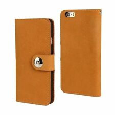 iPhone 5 Case Handmade Flexable Genuine Leather Light Brown Wallet