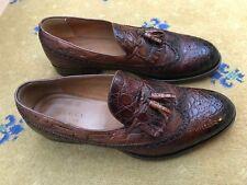 Gucci Zapatos para Hombre de Cuero Marrón Mocasines De Avestruz UK 11 nos 12 EU 45 Borla 295177