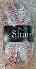 King Cole Shine DK Glitter Sparkle Double Knit Knitting Wool Yarn 100g Glacier 138