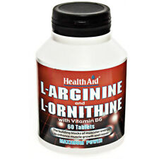 Health Aid L-Arginine 600mg & L-Ornithine 300mg 60 tablets