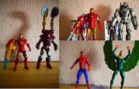 "Marvel 3.75"" Figure Bundle Iron Man Spider-man Vulture Air Assault Drone LOOSE C"