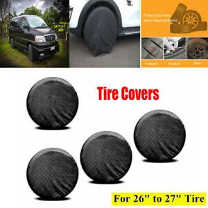 """4PCS Universal 26""""-27'' Car Wheel Tire Covers For RV Trailer Camper Truck UTV"""