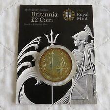 2008 £2 SILVER BRITANNIA ON ROYAL MINT PRESENTATION CARD