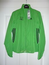 ADIDAS Lime Green Clima Proof Running Jacket Size 8 NWT