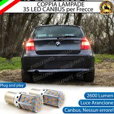 COPPIA LAMPADE PY21W BAU15S CANBUS 35 LED BMW SERIE 1 E87 FRECCE POSTERIORI