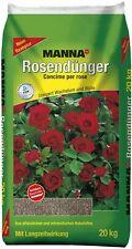 Manna Rosendünger 20 kg Rosen Dünger Gartendünger Volldünger Garten Blumendünger
