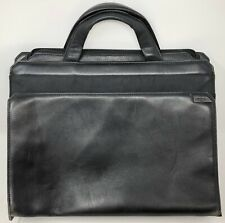 TUMI Women's Black Leather & Nylon Bag Laptop Notebook Tote Briefcase 14 inch