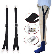 Y Style Men Elastic Band Garters Non slip Socks Shirt Stays Holder Suspender UK