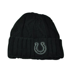 NFL New Era Grey Collection Indianapolis Colts Knit Beanie Crochet Hat Black