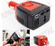 INVERTER 150W 12V 220V PRESA ACCENDISIGARI AUTO CAMPER PORTA USB TRSFORMATORE