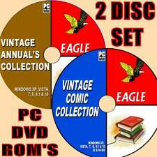 BIGGEST COLLECTION OF EAGLE CLASSIC VINTAGE UK COMICS/ANNUALS 50s-80s 2 X PC-DVD