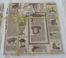 NIP Vintage Wrapping Paper Victorian Catalogue 4 Sheets Tuttle Press