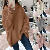 Women Ladies Loose Sweater Pullovers Women Knitwear Sweaters Long Sleeve Jumpers