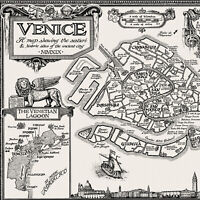 The Venice Map - Fine Art Prints by Manuscript Maps