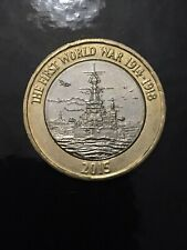 2015 £2 Two Pound Coin. WWI NAVY. First World War. Circulated.
