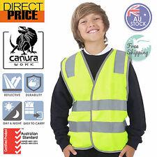 Hi Vis Safety Vest Children Kids Aus Standard Reflective Tape Yellow Day Night