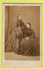 Victorian CDV - Sisters wearing Crinoline Dress - J. W. Hall - Winterton