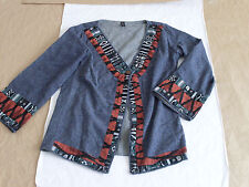 Women's Scared Threads Native Indian Design Cardigan Size XL