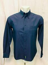 Ben Sherman Sharkskin Long Sleeved Mens Shirt. Size 2M. Teal Blue. Excellent.