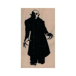 Mounted Rubber Stamp, Nosferatu, Vampire, Scary Vampire, Halloween, Monster