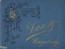 Danzig und Umgebung kleiner Souvenir-Bildband um 1890 Graphische Gesellschaft