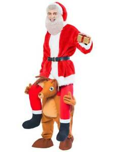 Ride A Reindeer Adults Fancy Dress Christmas Shoulder Carry Costume Piggy Back