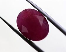 8.52 Ct Natural Ruby Loose African No Heat Oval Pinkish Red Color Gemstone A+