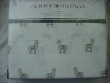 Tommy Hilfiger Llamas Alpacas on White Sheet Set Queen