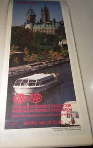 Vintage 1991 Map 'ONTARIO ' Canada By The American Automobile Assoc.