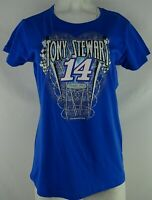 #14 Tony Stewart Nascar Women's Blue Short Sleeve T-Shirt