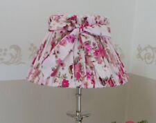 Lampenschirm Tischlampe Schirm Schleife rund Rose auf Rosa Ø20cm / E27 Landhaus
