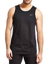 Nike Mens Athletic Cut Red Swoosh Black Sleeveless Vest Tank Top 823645 010 L