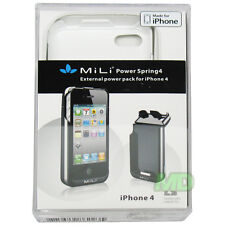 NEW Genuine MiLi Power White Spring4 HI-C23 Extended Battery Case for iPhone 4