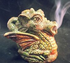 Baby Dragon smoking, incense cone, Lotr, Hobbit, wiccan, pagan, nag champa