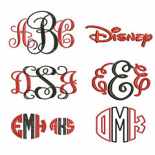 Embroidery Font Pack - 6 Embroidery -- Machine Embroidery Fonts in 3 Sizes Each