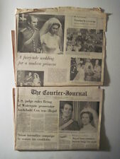 Louisville Courier Journal, 1973. Princess Anne Wedding- 2 different sections!