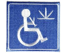 "(RR) MEDICAL MARIJUANA 3"" x 3"" iron on patch (3795D) Handicapped"