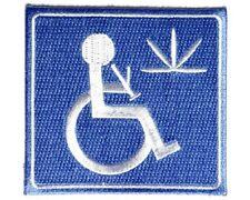 "(RR) MEDICAL MARIJUANA 3"" x 3"" iron on patch (3795) Handicapped"