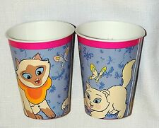 SAGWA THE CHINESE  SIAMESE CAT~~ 8 PAPER CUPS  9 OZ. BIRTHDAY