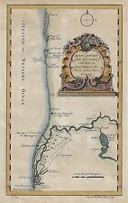 """Labat Map - c1790 - """"WEST COAST OF AFRICA"""" - Hand Colored Copper Engraving"""