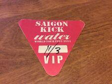 "SAIGON KICK ""WATER"" BACKSTAGE PASS 1993-1994 WORLD TOUR!!!"