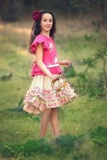 NWT Paper Wings FAIRY Bustle tie top 8 & fairy print bustle ruffle skirt  7 set