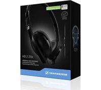 New Genuine Sennheiser HD 2.20s Powerful Bass Foldable Headphones