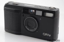 Ricoh GR-1V GR1v Date Black w/Hood Filter Ring Case ** Excellent + ** ( #1180)