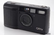 Ricoh GR-1V GR1v Date Black w/Hood Filter Ring Case ** Excellent + ** ( #1180)