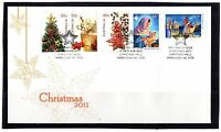 2011 Australia Christmas Issue 2011 Set Of 5 FDC, Mint Condition